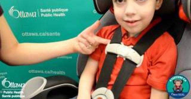 3 étapes pour sécuriser des sièges d'auto pour enfant -- A1Secure (Ottawa Sante' publique)